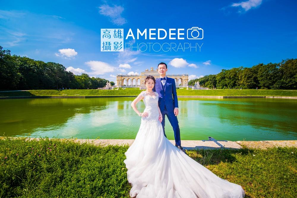 奧地利維也納美泉宮熊布朗宮前婚紗攝影歐洲婚紗照