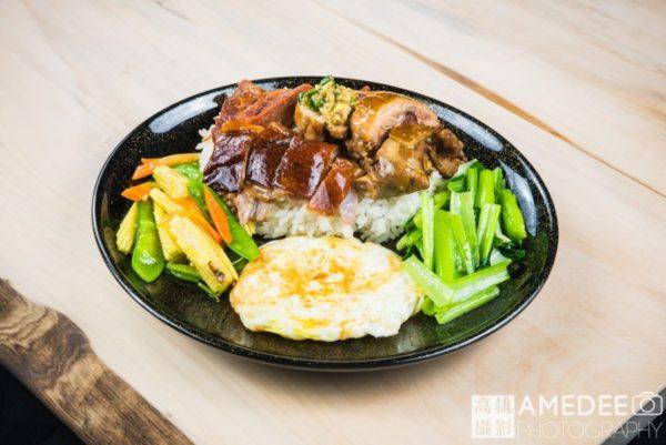 港式燒肉便當美食攝影