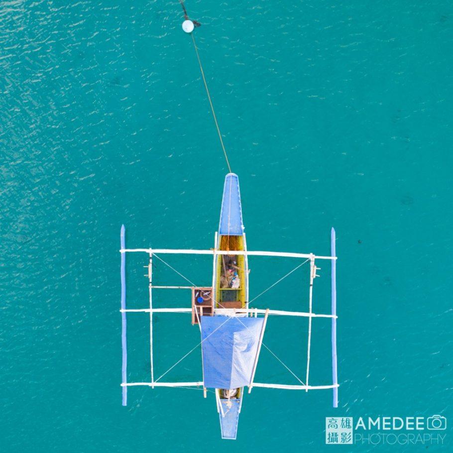 船隻在海上空拍攝影