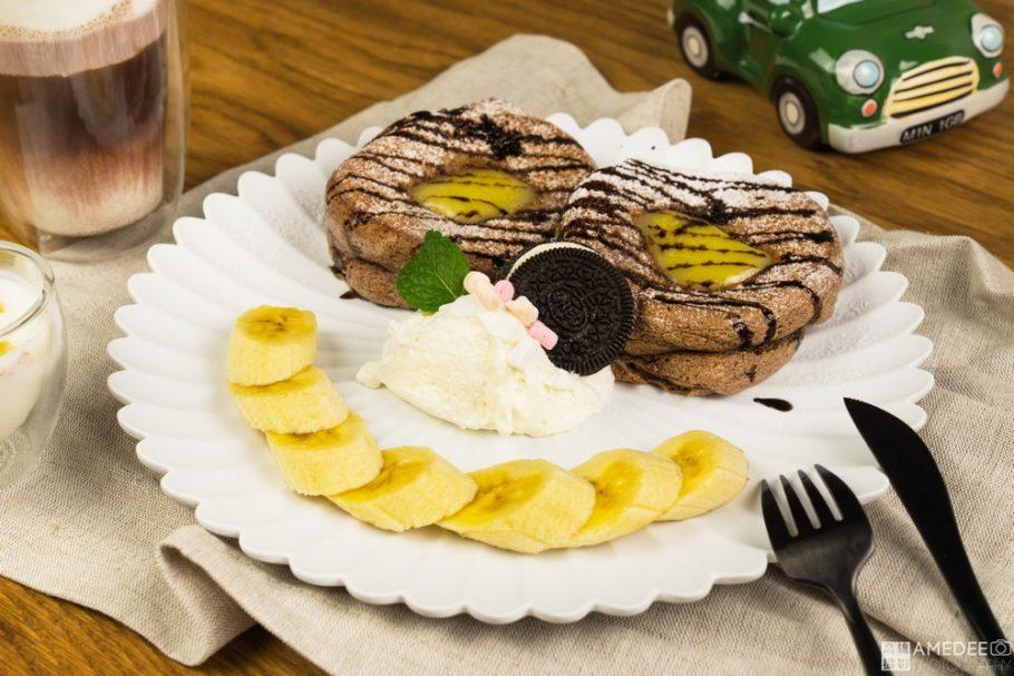 巧克力舒芙蕾鬆餅情境照