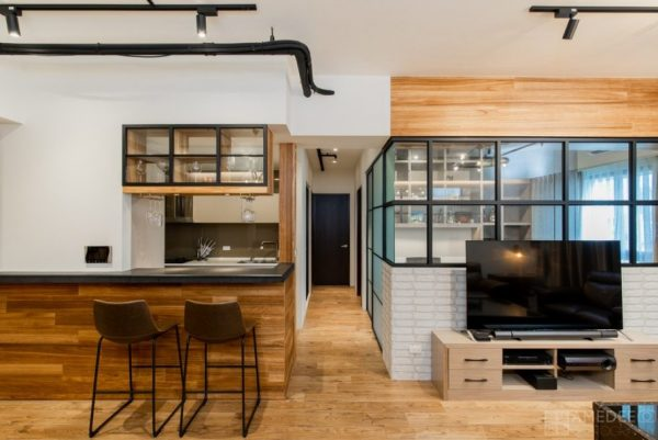廚房吧檯與書房實景拍攝