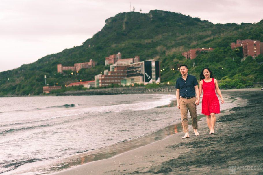 情侶在西子灣藝術照