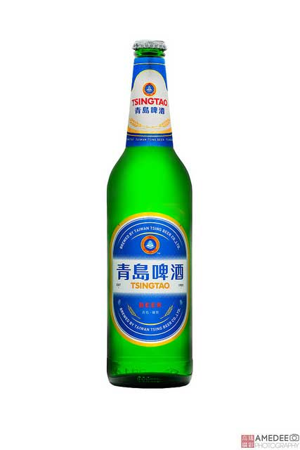 青島啤酒攝影棚拍去背商品攝影