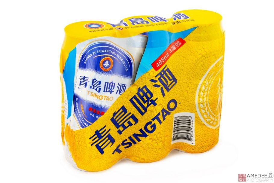 青島啤酒收縮膜去背攝影