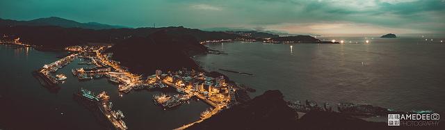 瑞芳深澳漁港旅遊風景空拍攝影