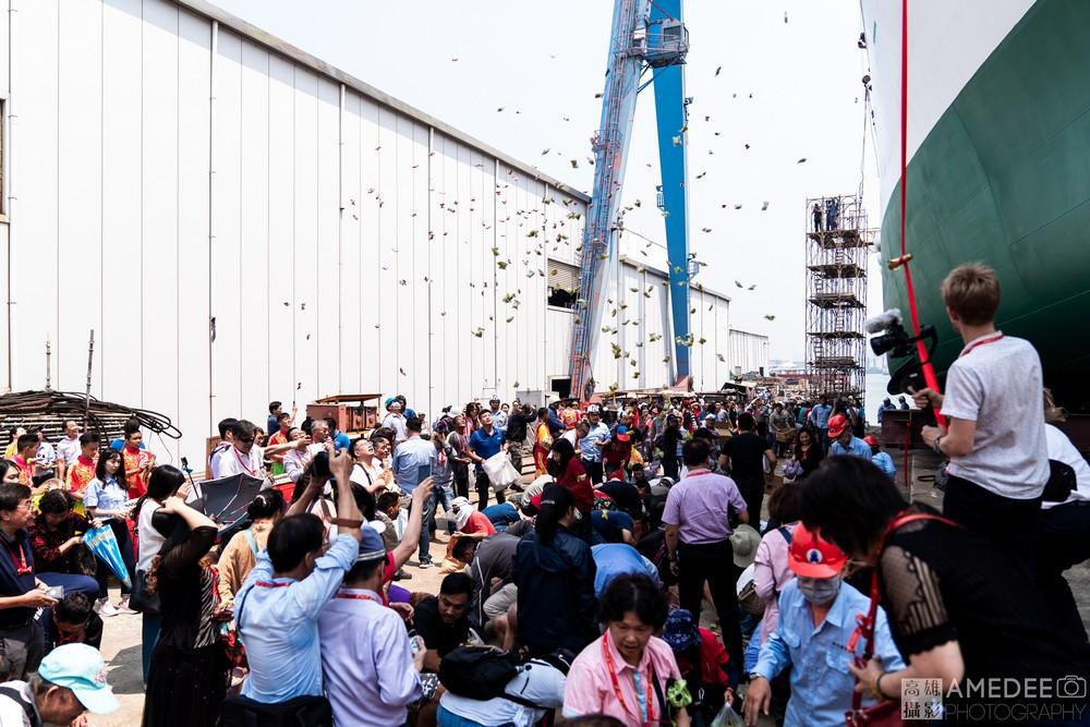 祥隱水產在中信造船廠下水典禮活動攝影