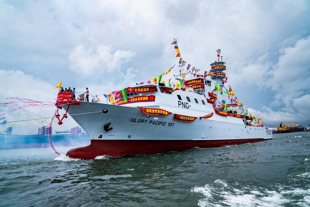 順合漁業在高雄港旗津中信造船廠Glory Pacific