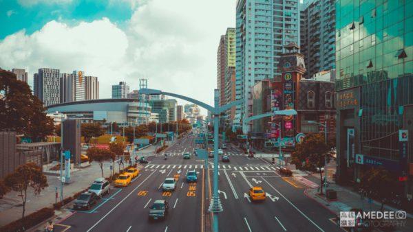 高雄博愛路與民族路道路空拍攝影