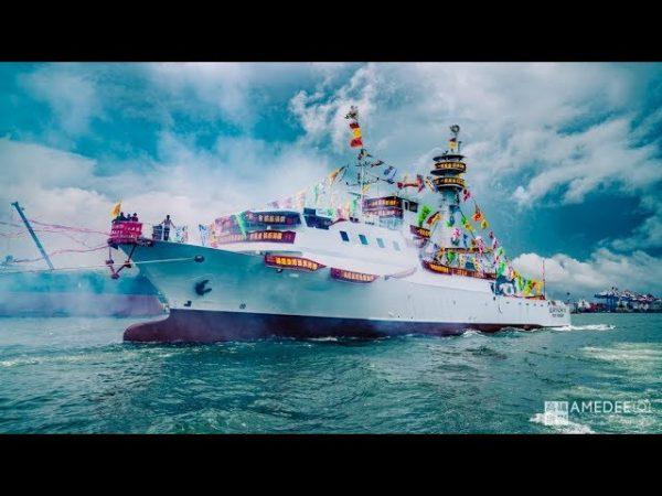 海原晟股份有限公司在旗津新船下水儀式活動動態攝影