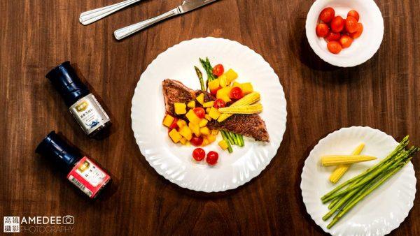 牛排-晶焰爐料理示範美食攝影