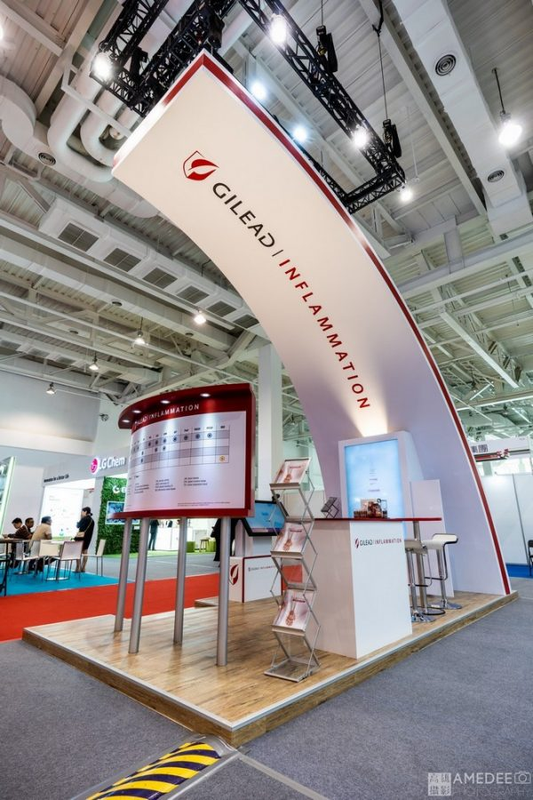 高雄展覽館GILEAD 展覽設計佈置空間攝影-高雄攝影