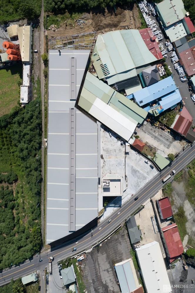 群策能源科技廠房屋頂空拍攝影