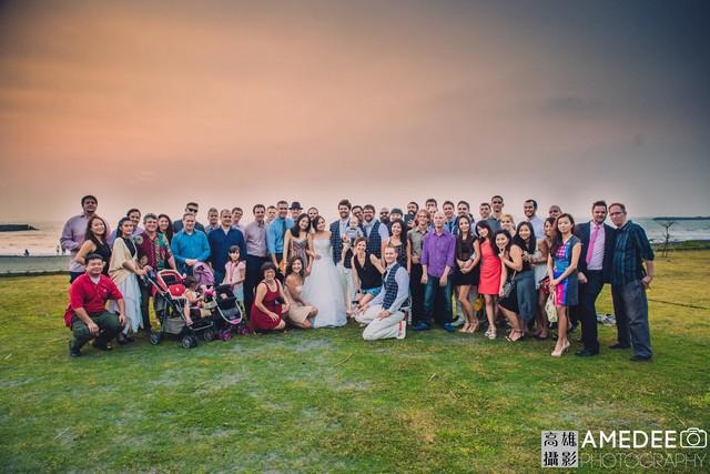 Vanessa&Travis在西子灣沙灘會館婚禮攝影合照