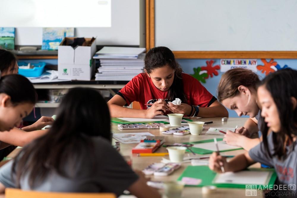 高雄馬禮遜美國學校校園生活形象平面、空拍排字攝影