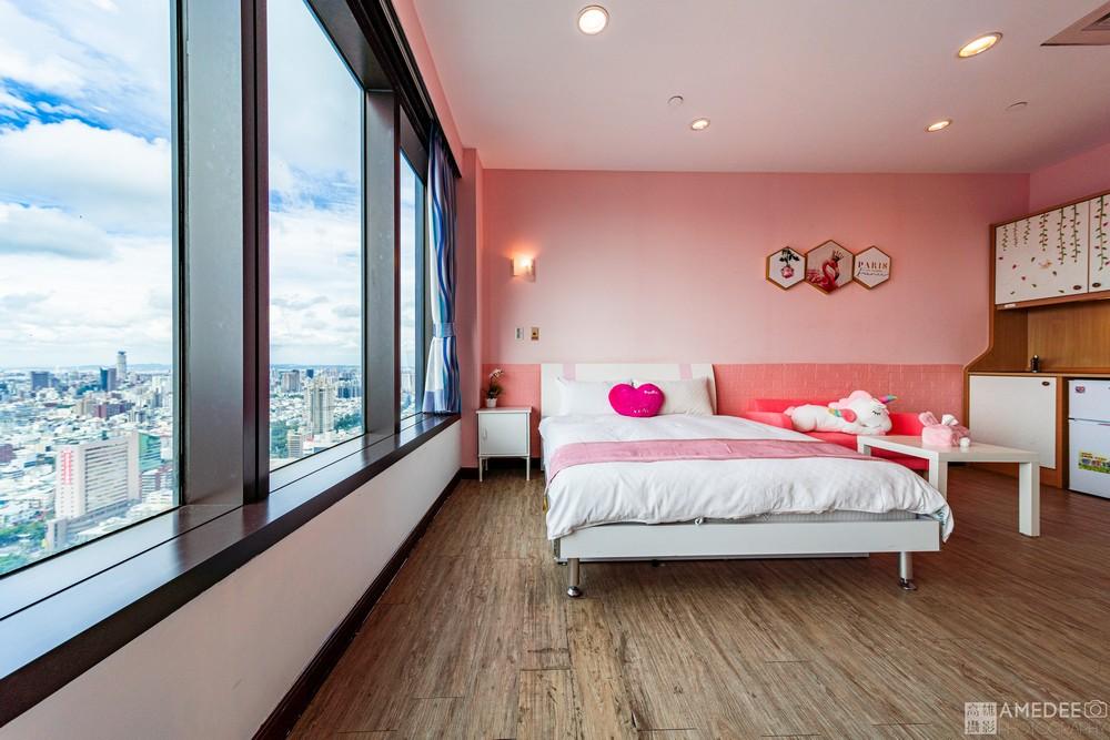 高雄八五大樓旅足行館民宿雙人房空間攝影