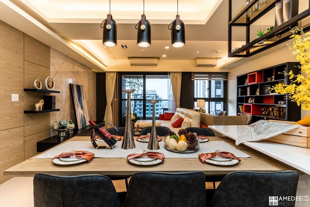 宸霈設計三發匯世界實品屋餐廳形象空間照