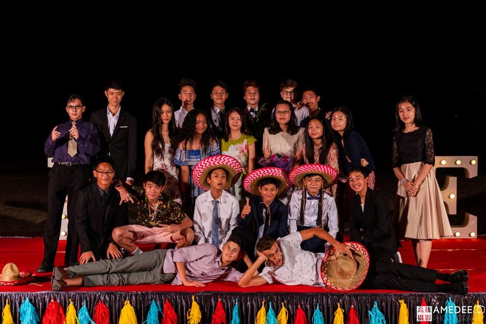 馬禮遜美國學校在西子灣沙灘會館舞會班級合照