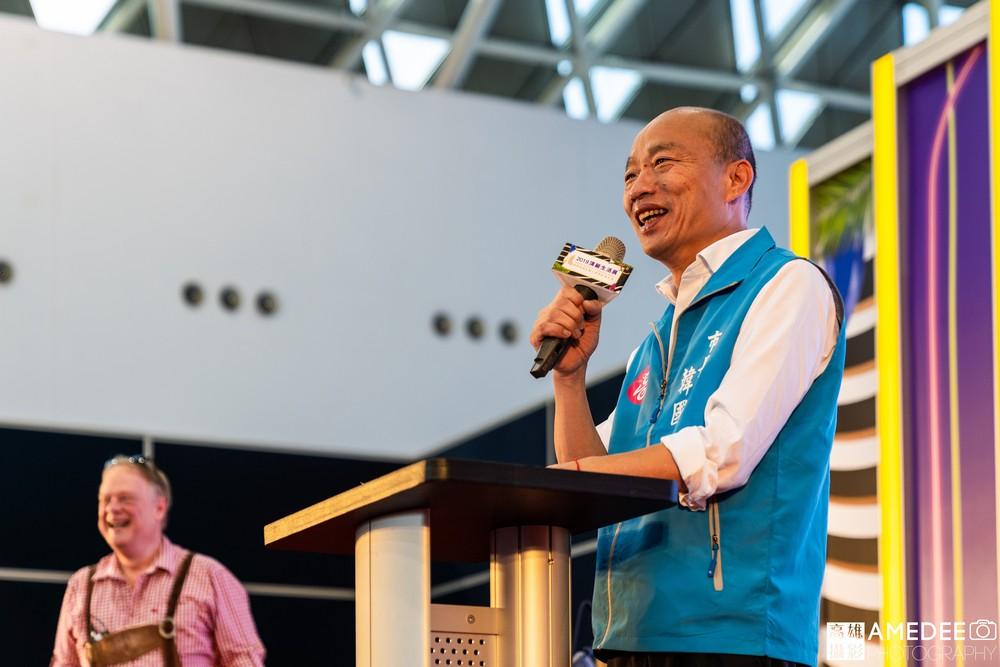 高雄展覽館頂級生活展高雄市長韓國瑜致詞