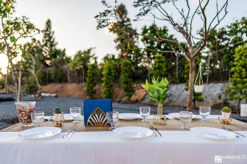 墾丁波光星海旅宿餐桌布置