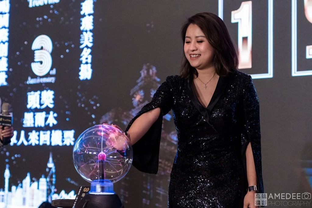 明暘國際董事長在台北萬豪酒店舞台上啟動儀式