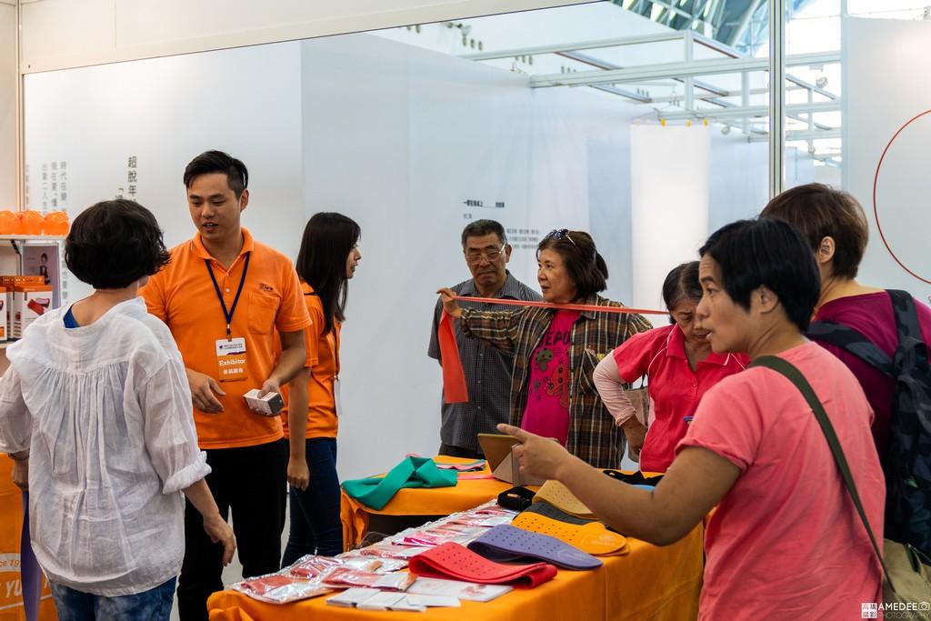 高雄展覽館亞洲樂齡智慧生活展攤位互動