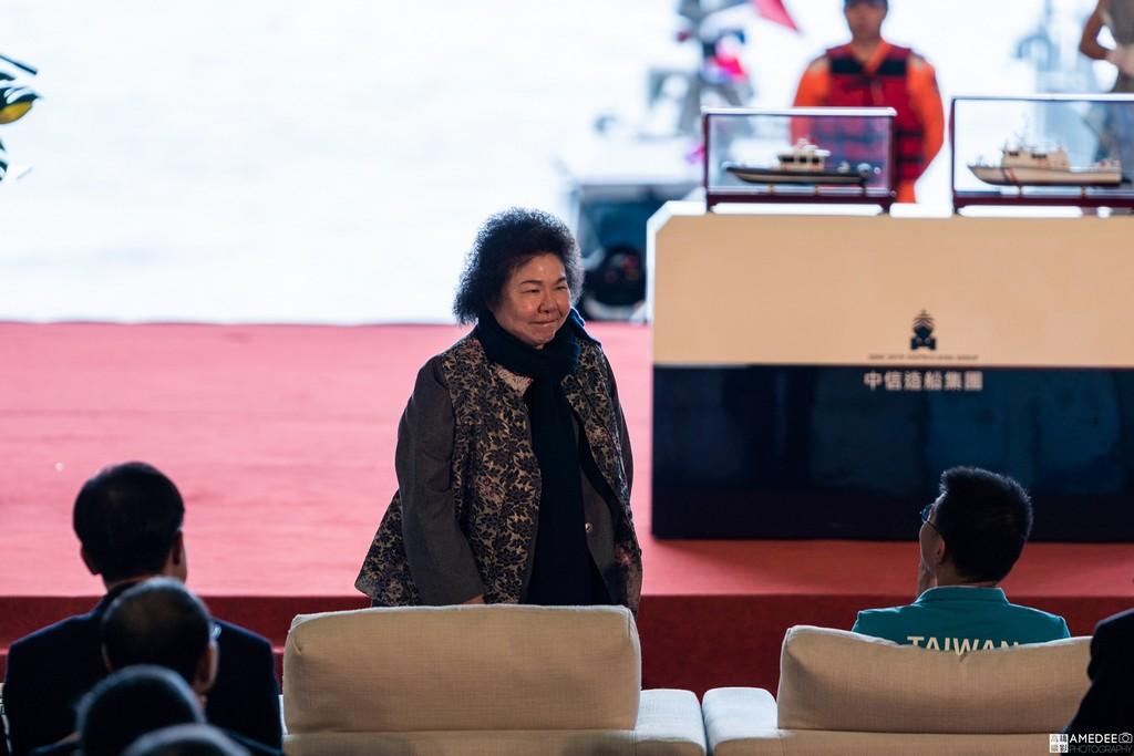 中信造船交船聯合典禮總統府秘書長陳菊