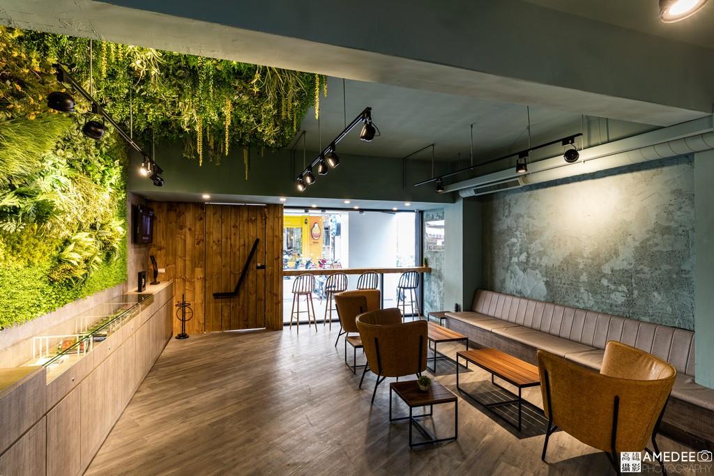 膜斯密碼高雄店室內植物造景形象空間攝影