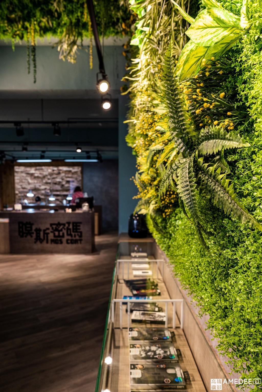 膜斯密碼高雄店店面植物造景空間攝影