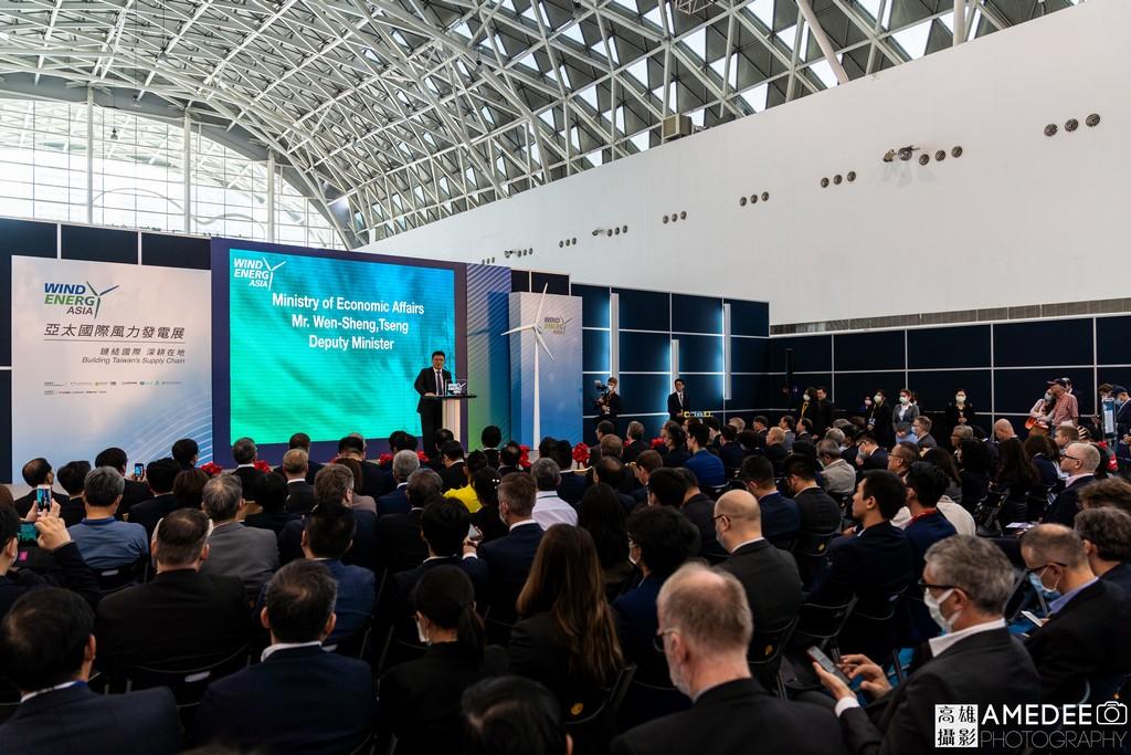 亞太國際風力發電展開幕儀式經濟部政務次長曾文生致詞
