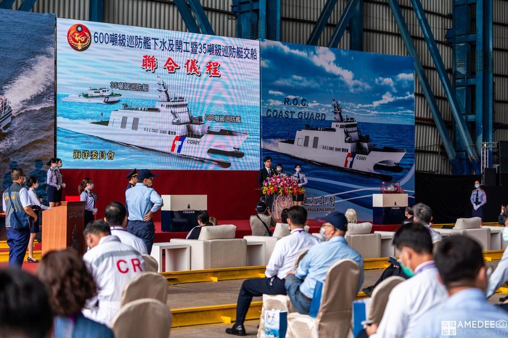 行政院副院長陳其邁致詞在中信造船交船典禮