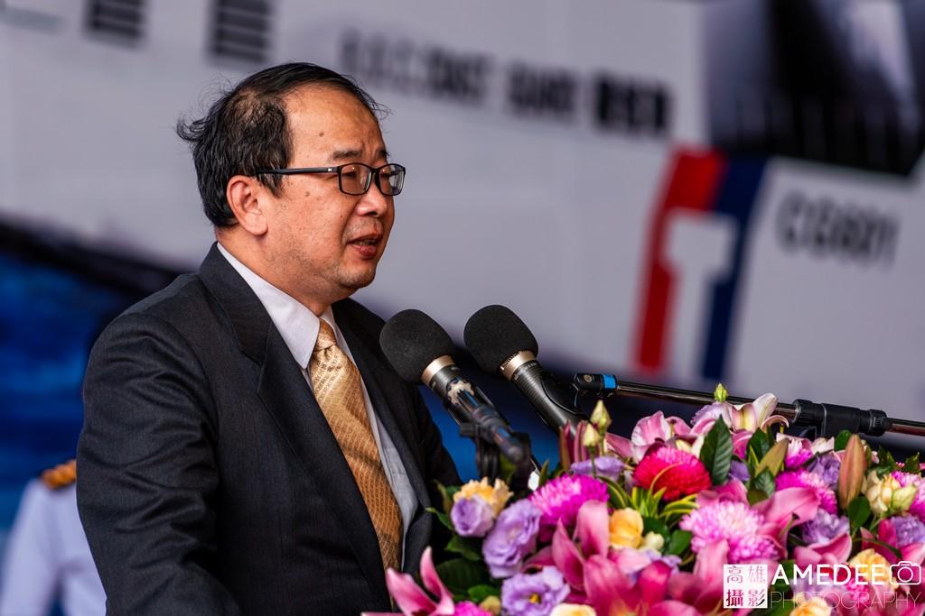 國安會副秘書長陳文政在中信造船交船典禮致詞
