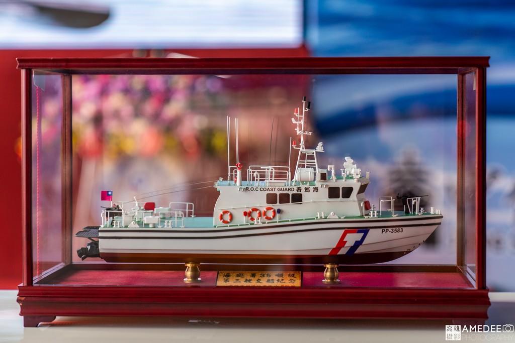 CG601海巡艦船模在中信造船交船典禮