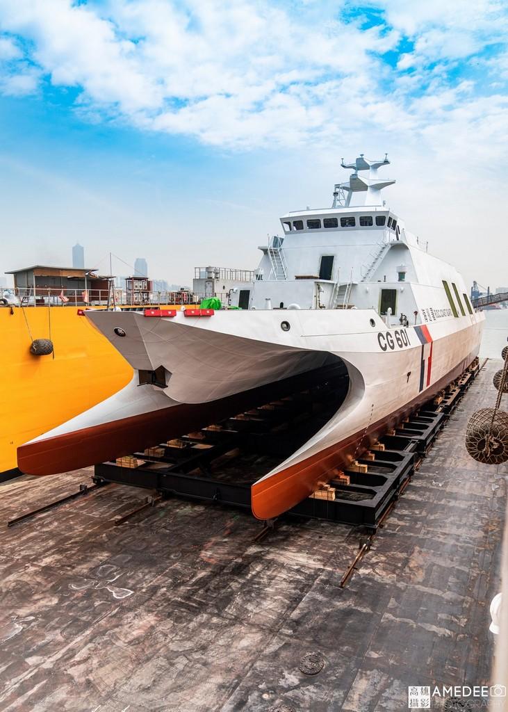CG601海巡艦在中信造船交船典禮