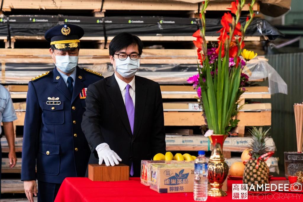 行政院副院長陳其邁參與中信造船開工典禮