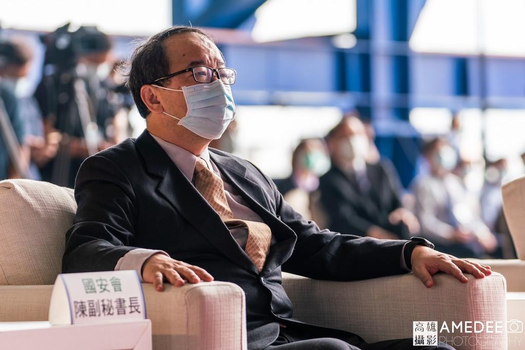 國安會副秘書長陳文政在中信造船交船典禮
