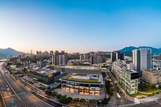 台北北投賓士展示間空拍商業攝影