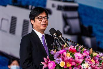 攝影師拍行政院副院長陳其邁致詞