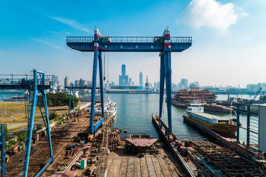 攝影師空拍中信造船廠