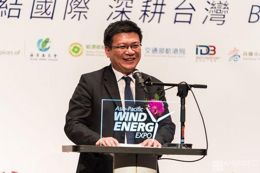 高雄展覽館亞太國際風力發電展經濟部政務次長曾文生致詞
