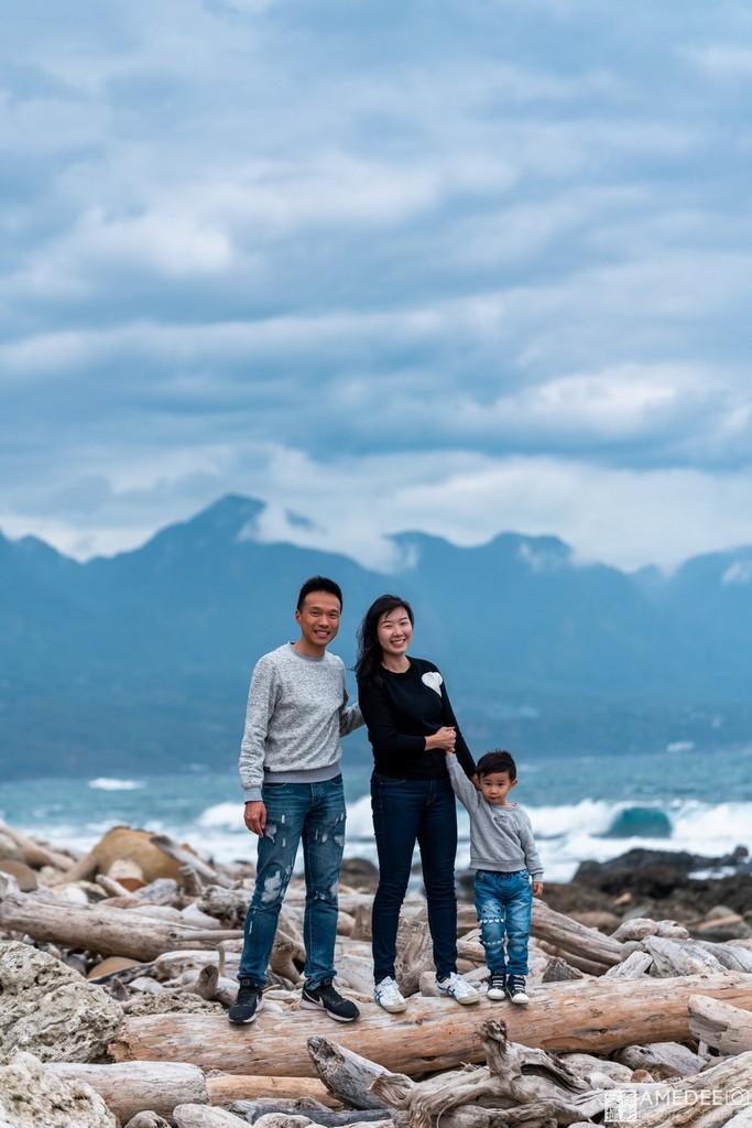 台東加路蘭風景區拍攝全家福