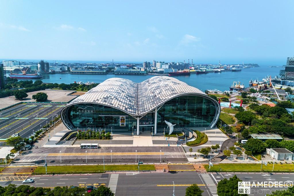 高雄展覽館Kaohsiung Exhibition Center外觀海景空拍照