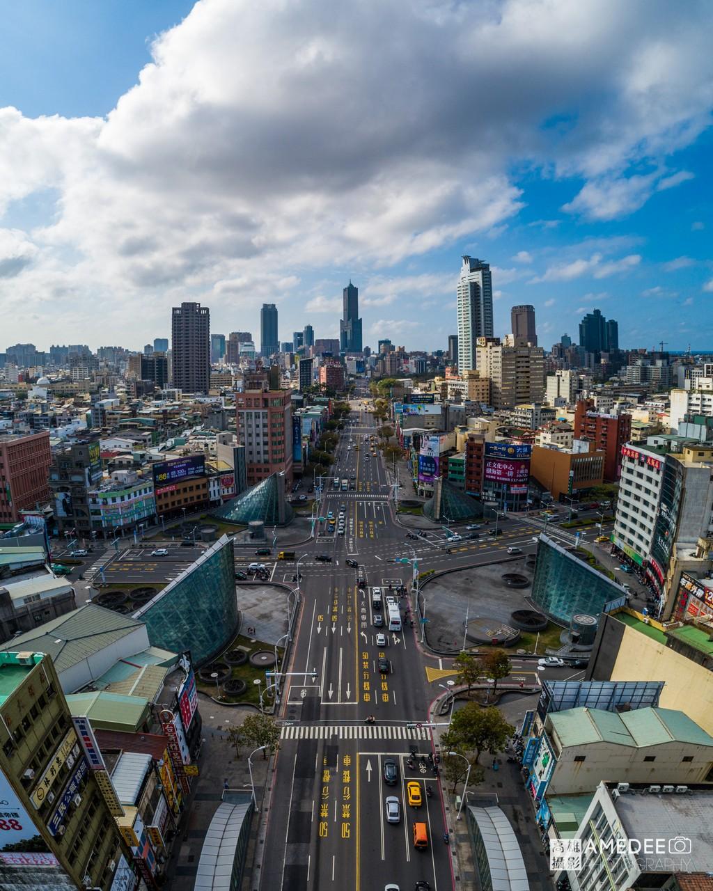 高雄美麗島捷運站(博愛路與中山路口)環境空拍照
