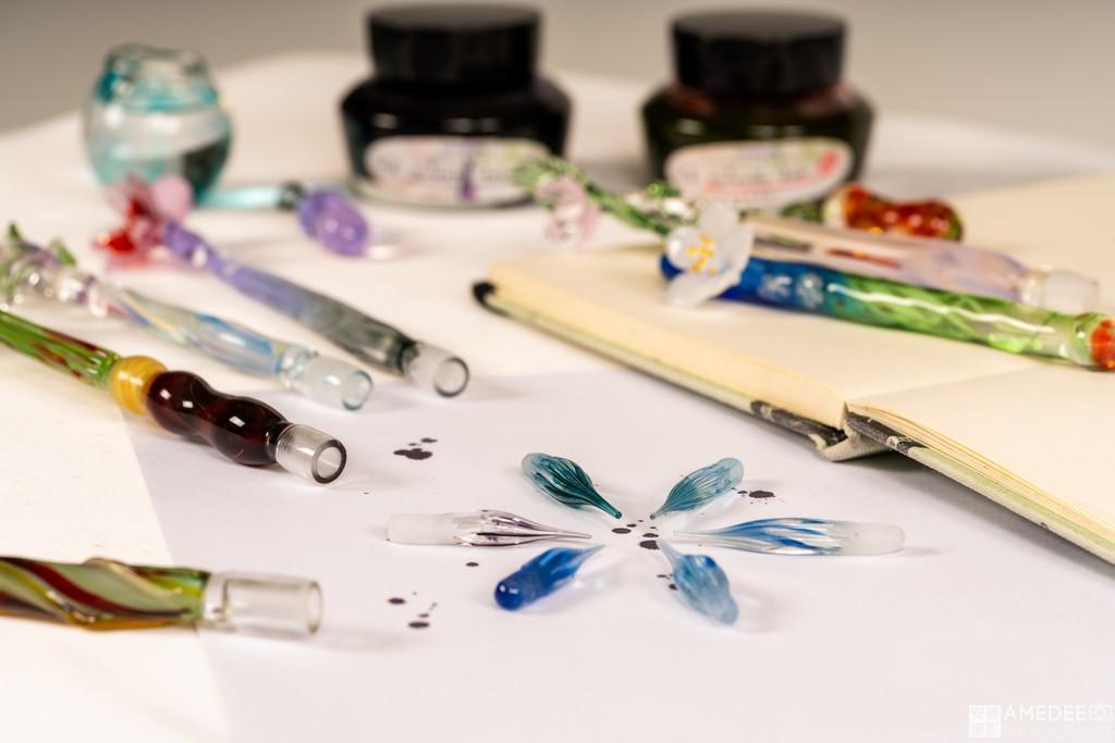 玻璃墨水筆情境照