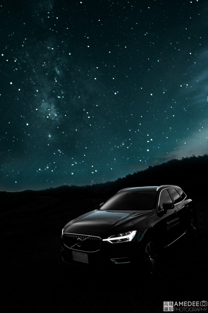 Volvo汽車XC60在墾丁星空情境照