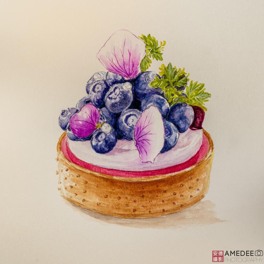 手繪甜點藝術品畫作翻拍