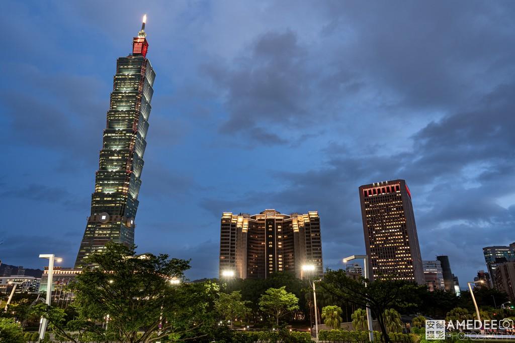 台北101與世貿大樓波蘭台北辦事處外觀建築照